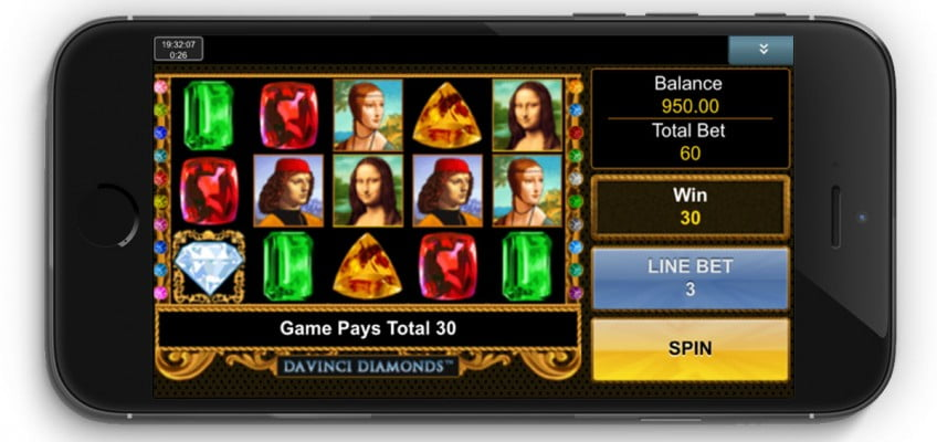 da vinci diamonds mobile slot