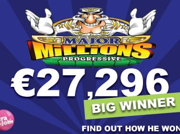 major millions jackpot hit vera john casino