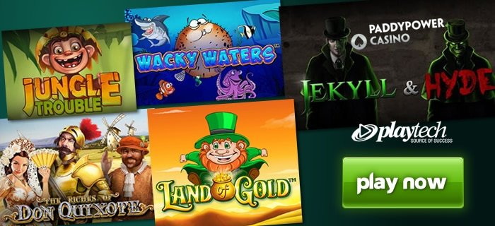 Five Playtech Slots Added Paddy Power Casino