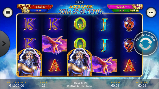 Age Of The Gods King Of Olympus Slot Review