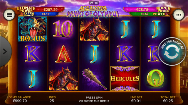 Play Age of the Gods: Prince of Olympus slots at Casino.com NZ