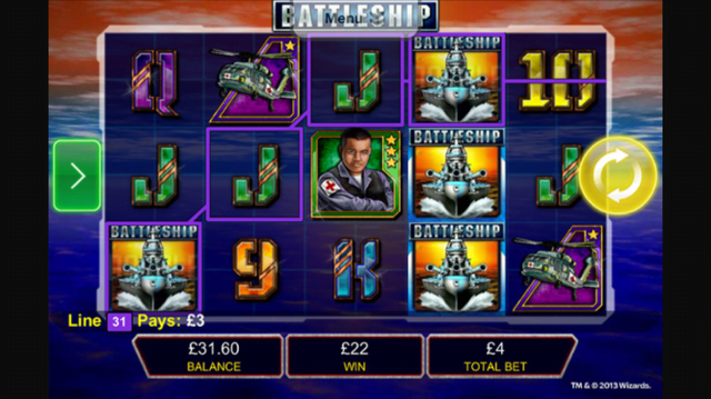 battleship slot review