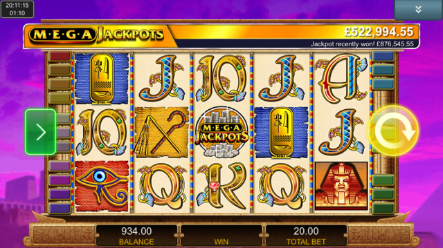 cleopatra mega jackpots slot review