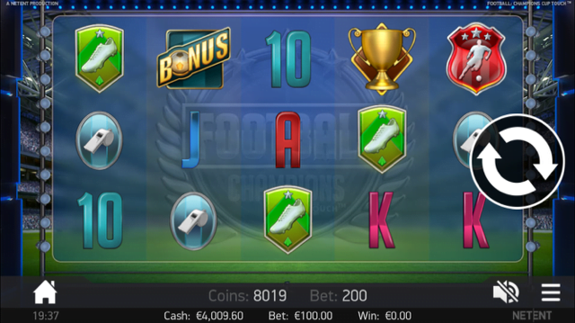 football champions cup slot review