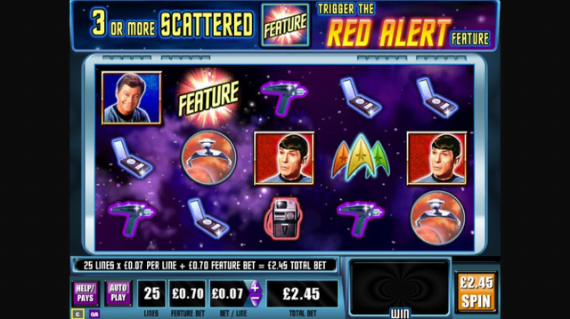star trek red alert slot review