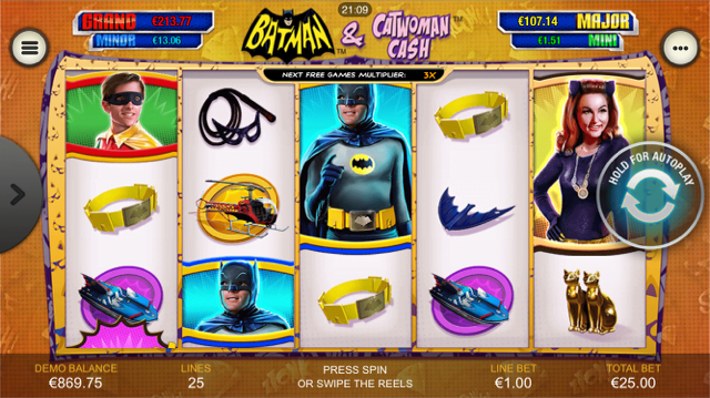 Batman & Catwoman Cash slots at Casino.com New Zealand