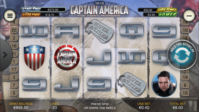 captain america slot review