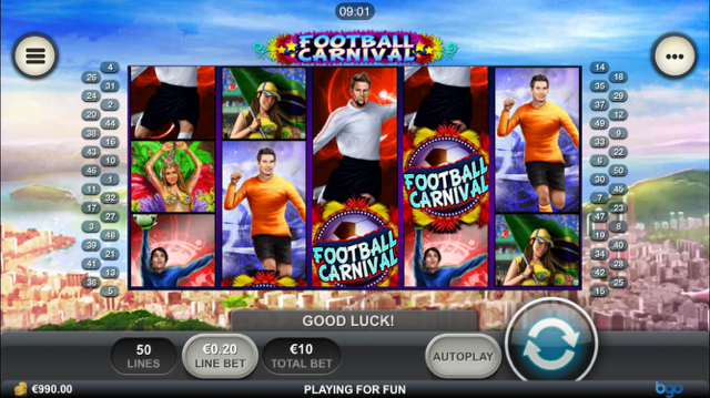 football carnival slot review