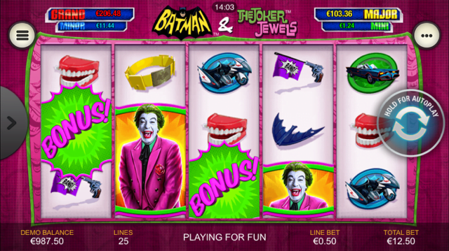 Batman & The Joker Jewels Slot Review