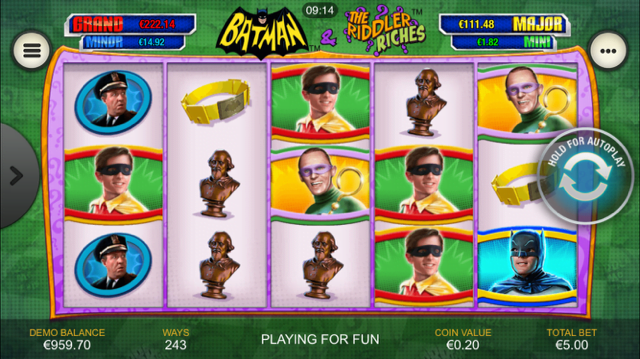Batman & The Riddler Riches Slot Review