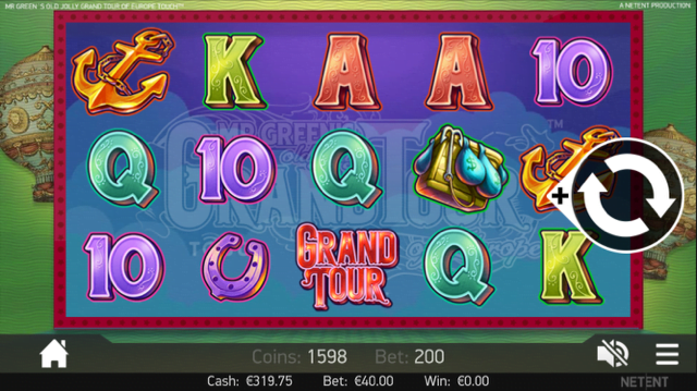 mr greens grand tour slot review