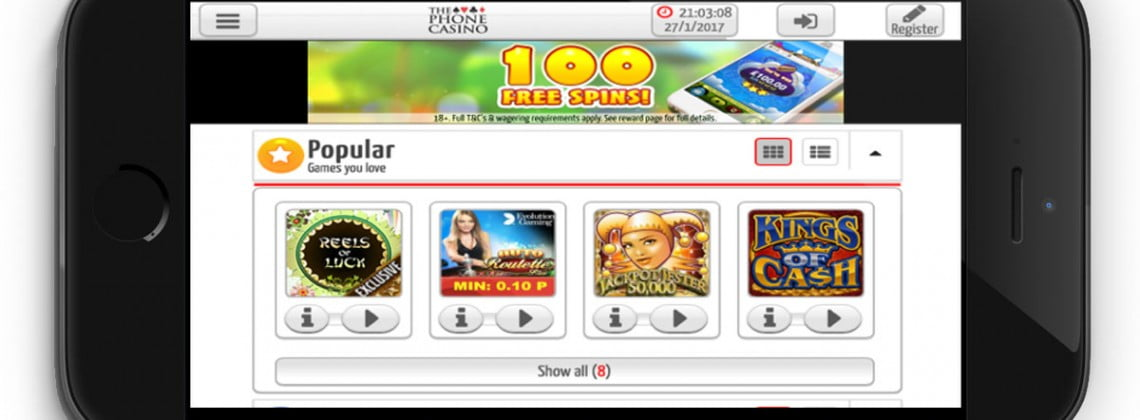 The Phone Casino Review