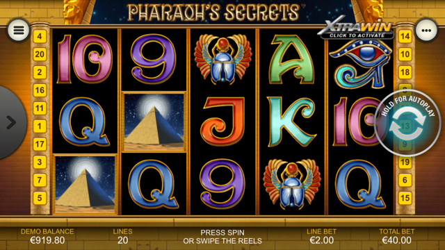 pharaohs secrets slot review