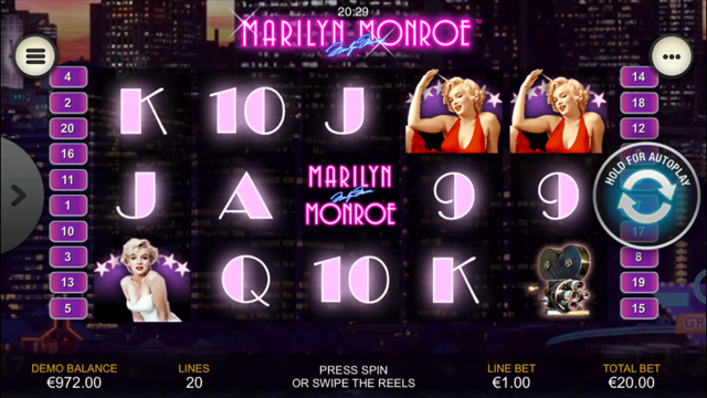 Marilyn Monroe Slot Review
