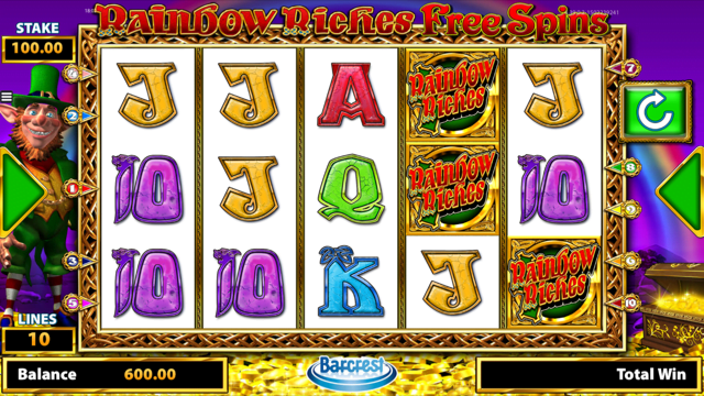 Rainbow Riches Free Spins Slot Review