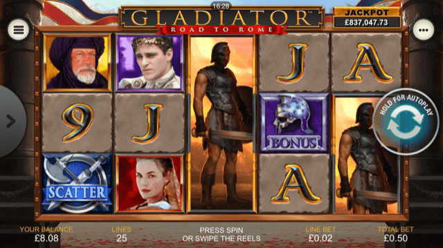 Gladiator Road To Rome Slot Review