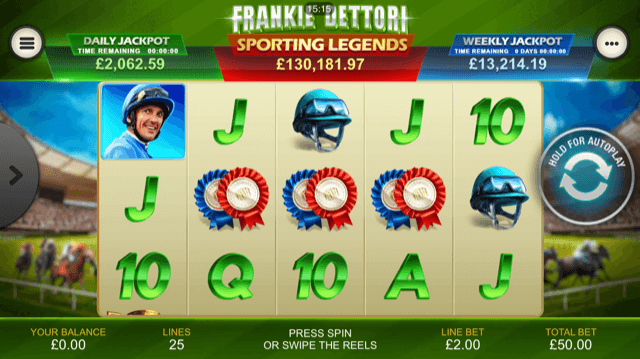 Frankie Dettori Sporting Legends Slot Review